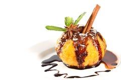 Naranja en jarabe de chocolate Imágenes de archivo libres de regalías