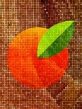 Naranja en la pantalla de punto marrón Imagen de archivo libre de regalías