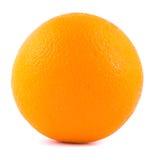 Naranja en un fondo blanco con una sombra Imagen de archivo
