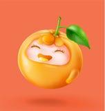 naranja feliz de la fruta 3d Foto de archivo