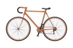 Naranja fija de la bicicleta de la ciudad del engranaje Fotos de archivo