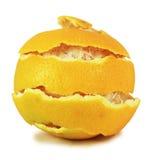 Naranja fresca de la cáscara foto de archivo