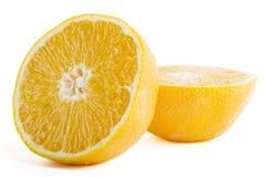 Naranja fresca del corte Imagen de archivo