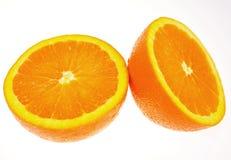 Naranja fresca del corte Imagenes de archivo
