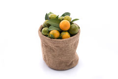 Naranja fresca en saco foto de archivo libre de regalías