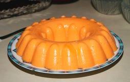 Naranja, fruta y helado Foto de archivo libre de regalías