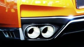 Naranja gtr de Nissan fotos de archivo libres de regalías