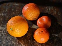 Naranja, mandarinas Fotografía de archivo