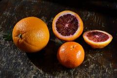 Naranja, mandarinas Imagen de archivo libre de regalías