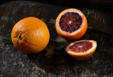 Naranja, mandarinas Imágenes de archivo libres de regalías