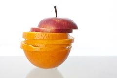 Naranja, manzana Fotografía de archivo