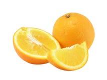 Naranja, mitad y cierre anaranjado del segmento para arriba Imagen de archivo
