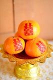 Naranja para la ceremonia de boda Fotografía de archivo
