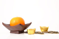 Naranja por Año Nuevo chino Fotos de archivo libres de regalías