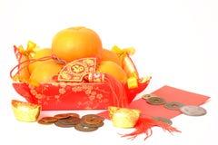 Naranja por Año Nuevo chino Foto de archivo libre de regalías