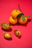 Naranja por Año Nuevo chino lunar Concepto del día de fiesta de Tet Fotos de archivo