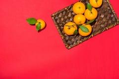 Naranja por Año Nuevo chino lunar Concepto del día de fiesta de Tet Imágenes de archivo libres de regalías