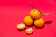 Naranja por Año Nuevo chino lunar Concepto del día de fiesta de Tet Foto de archivo libre de regalías