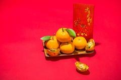 Naranja por Año Nuevo chino lunar Concepto del día de fiesta de Tet Fotografía de archivo libre de regalías