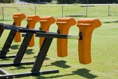 Naranja que aborda maniquíes imagen de archivo libre de regalías