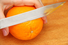 Naranja rebanada Fotos de archivo