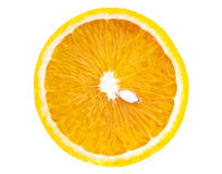Naranja rebanada aislada Fotos de archivo libres de regalías