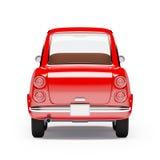 Naranja retra 1960 del coche Imágenes de archivo libres de regalías