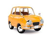 Naranja retra 1960 del coche Fotos de archivo libres de regalías