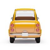 Naranja retra 1960 del coche Imagenes de archivo