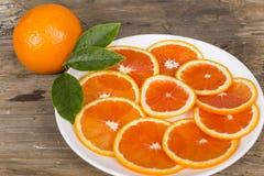 Naranja roja cortada Imágenes de archivo libres de regalías