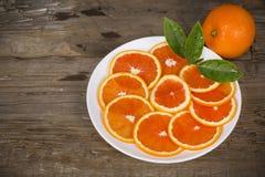 Naranja roja cortada Imagen de archivo libre de regalías