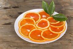 Naranja roja cortada Foto de archivo libre de regalías