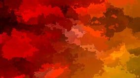 Naranja roja video manchada animada abstracta del lazo inconsútil del fondo almacen de video