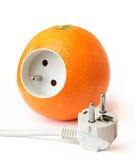 Naranja sana de la energía aislada Fotografía de archivo libre de regalías