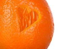 Naranja sana del corazón Foto de archivo
