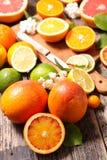 Naranja sangrienta fresca Foto de archivo