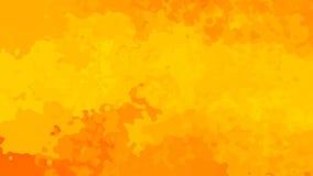 Naranja video manchada animada abstracta del lazo inconsútil del fondo almacen de video