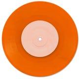 Naranja vinilo de 7 pulgadas solo Fotos de archivo