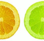 Naranja y cal Fotografía de archivo libre de regalías
