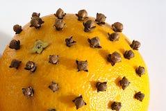 Naranja y clavos Fotografía de archivo libre de regalías