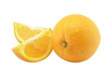 Naranja y dos segmentos de un o Foto de archivo libre de regalías