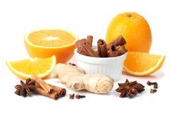 Naranja y especias Foto de archivo