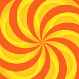 Naranja y extracto de los remolinos del amarillo Ilustración del Vector