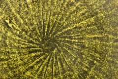Naranja y fondo cocido verde de la loza de barro de la arcilla imagenes de archivo