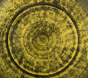 Naranja y fondo cocido verde de la loza de barro de la arcilla imágenes de archivo libres de regalías