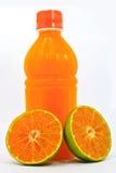 Naranja y jugo Imagen de archivo