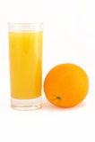 Naranja y jugo Foto de archivo