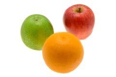 Naranja y manzanas Imagen de archivo