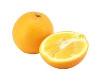 Naranja y mitad de la naranja Foto de archivo libre de regalías