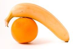Naranja y plátano Fotos de archivo libres de regalías